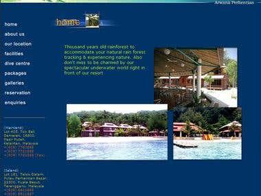 Arwana Perhentian Resort web design