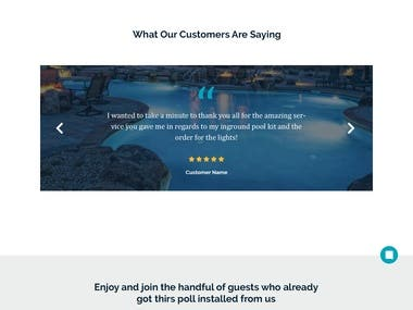 Pool Website Design
