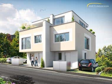 Duplex house in Baden, Germany