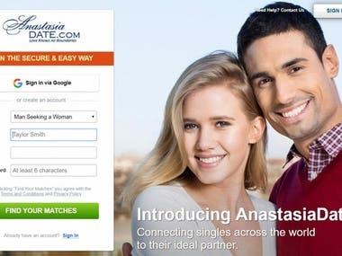 Dating website portal