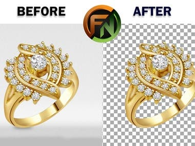 Jewelry Background Removing