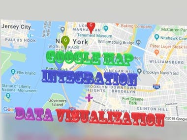 Google Map integration & Data visualization