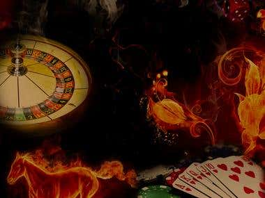 Background for a Casino Website