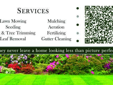 Chamblin Lawn Care Business Cards