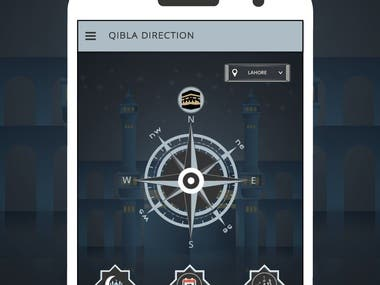 Qibla Direction Mobile App