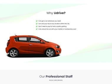 U-Drive Car Website Design