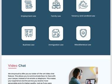 Find lawyer website design