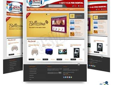 Sandiegofunrentals Zencart theme design+development