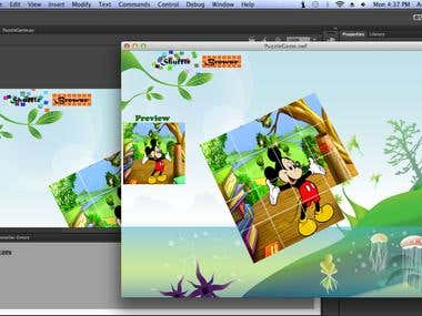 ScreenShot of 3D Slideing Puzzle