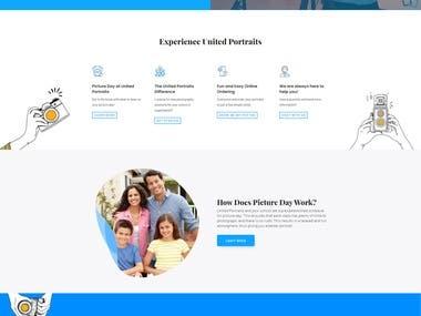 United Portraits Website development