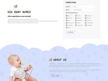 Baby Name Site