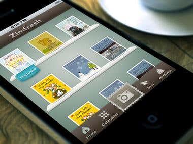 Zimfresh App Design