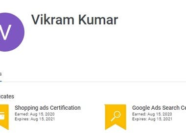 Google PPC and Shopping Ads Certificate