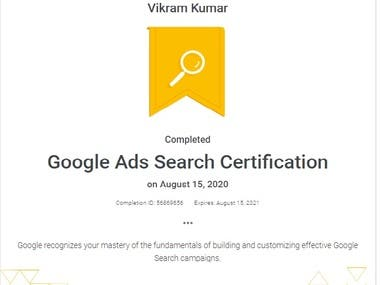 Google PPC - Adwords Ads Certificate