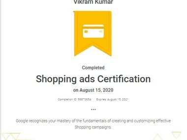Google Shopping Ads Certificate