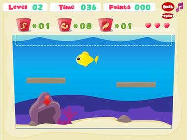 Feed the fish - Flash game