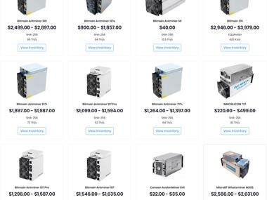 Marketplace for ASIC Miner Sellers & Buyers
