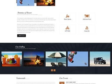 Hotel booking website built on wordpress