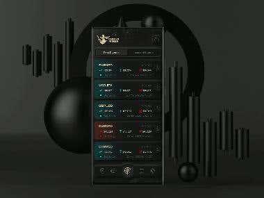 Forex Ninja Black App Design