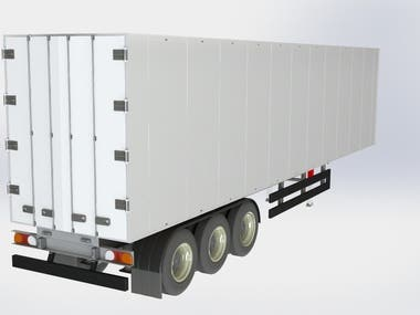 80 Tonn Semi-Truck Trailer 3D model