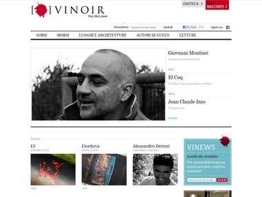 E-commerce website Vinoir.com