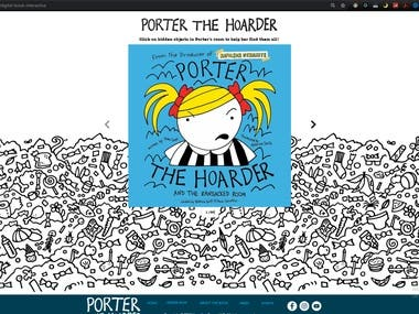 Porter the Hoarder WIX Animated Book