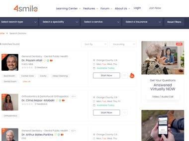 Dentist and Patient management system (4smile.com)