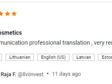 Translation Service Client Feedback
