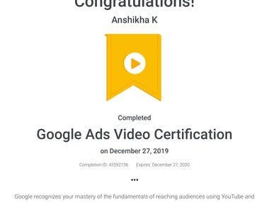 Google Ads - Video Certification