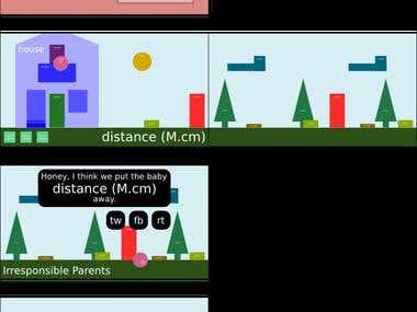 Arcade phone game mockups