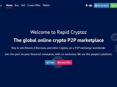 Online Crypto P2P Marketplace