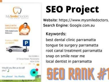 SEO Portfolio - Google #1 Rank