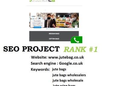 eCommerce SEO - Jutebag.co.uk