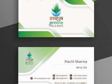 Visiting Card and business card design