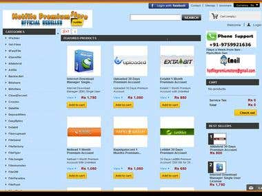 Online Software and Backup space supplier