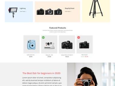 Camera E-Commerce store design