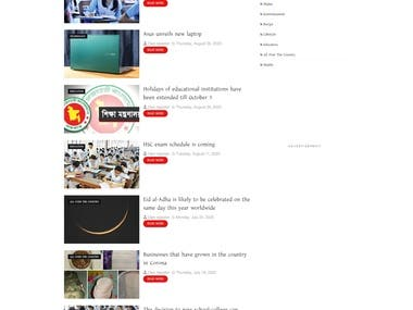 Website for Online News Portal