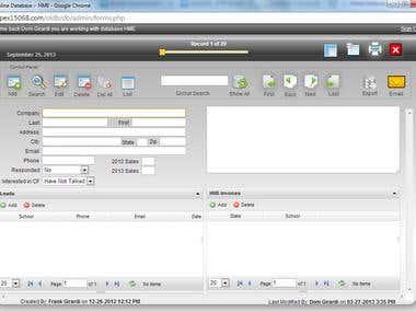 Online Database System
