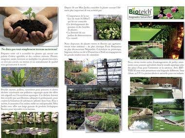 Brochure for «Mon Jardin» shop, Luxembourg