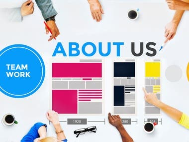 About Us page and services.
