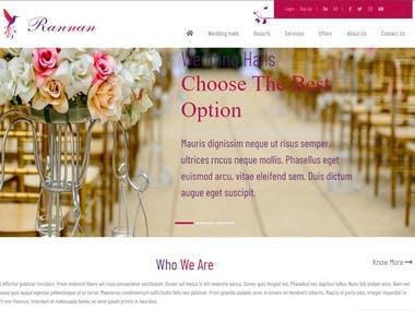 Rannnan - Wedding/Booking website