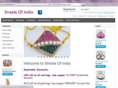 Testing of www.streetsofindia.in