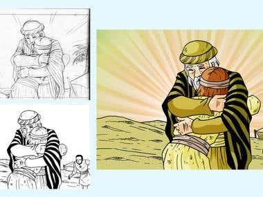 Comic Panel + Illustration