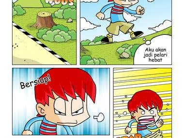 Educational Comic Strip for Children