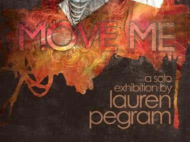 flyer/poster design for art exhibit