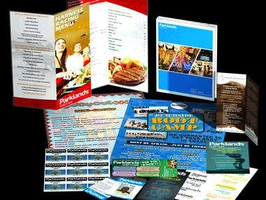 Various flyers, passes, menus, etc