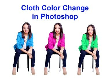 Cloth Color Change in Photoshop