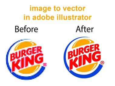Vectorize Your image in adobe illustrator