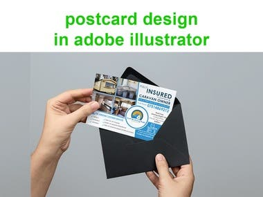 Postcard design in photoshop and illustrator