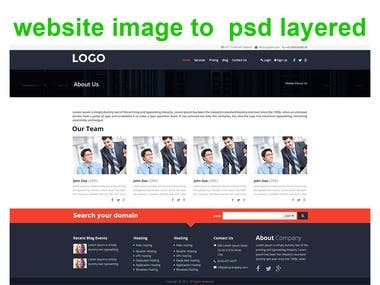 JPG website to psd layered